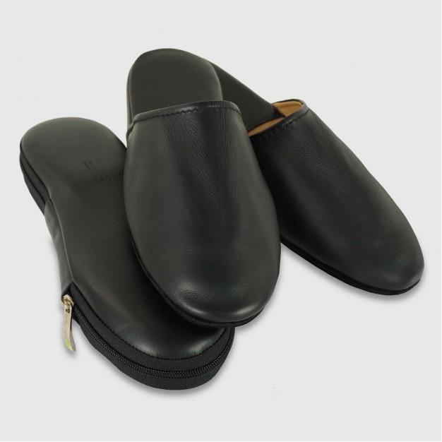 Pantofole da viaggio in pelle Toscana