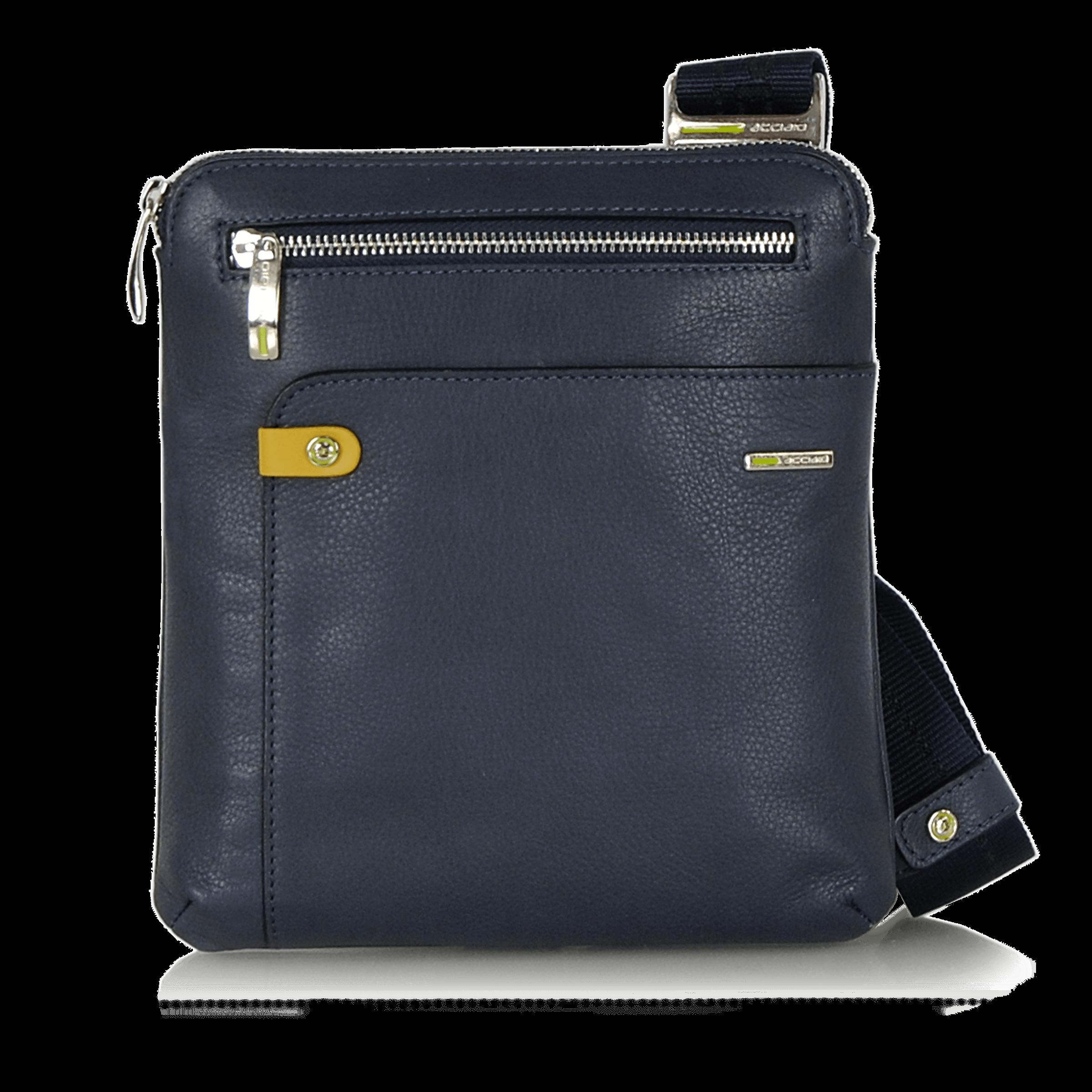 Shoulder Bag For Men Tablet 8 In Leather Acciaio