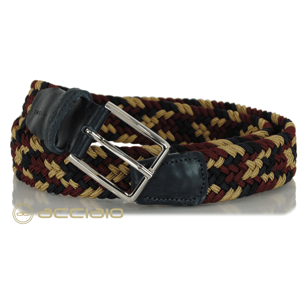 Braided stretch Belt elastic multicolor 9842 | Acciaio