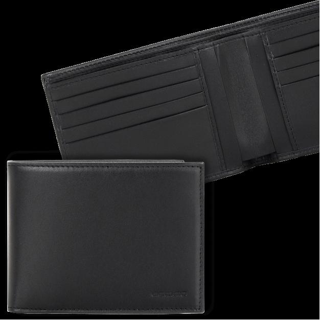 Portafoglio uomo con 8 carte di credito in pelle Elegance