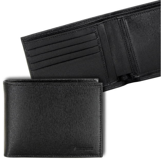 Wallet for Men with Purse and 4 cards in Saffiano