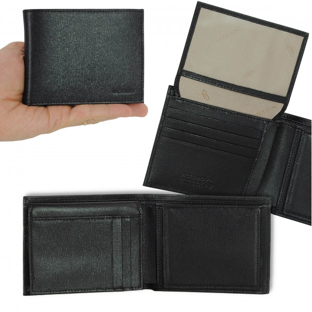 Wallet Men in Saffiano with purse and flap