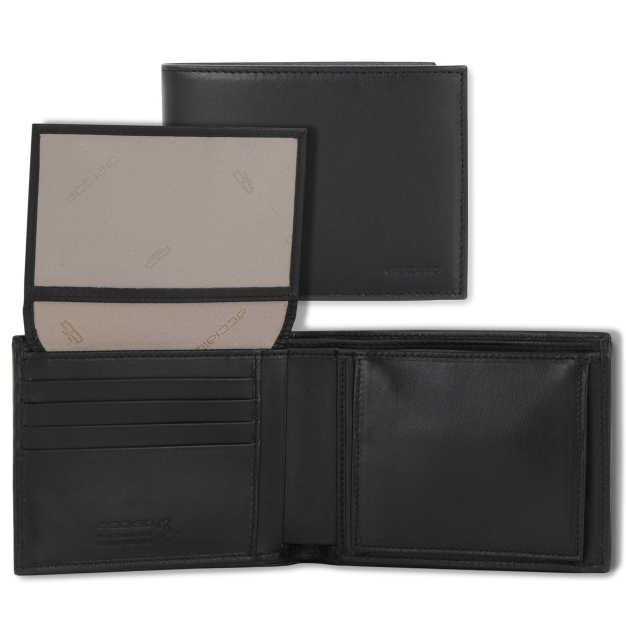 Wallet Men Smooth Leather with purse and flap