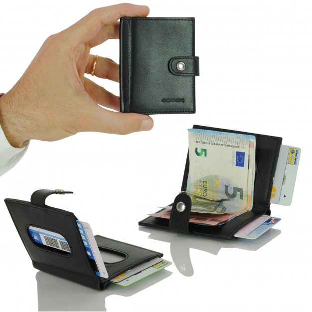 Wallet Mini in Smooth Leather with Money Clip