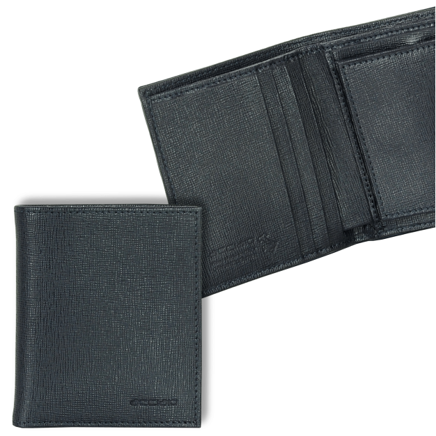 Pocket Wallet with coin pocket in Saffiano