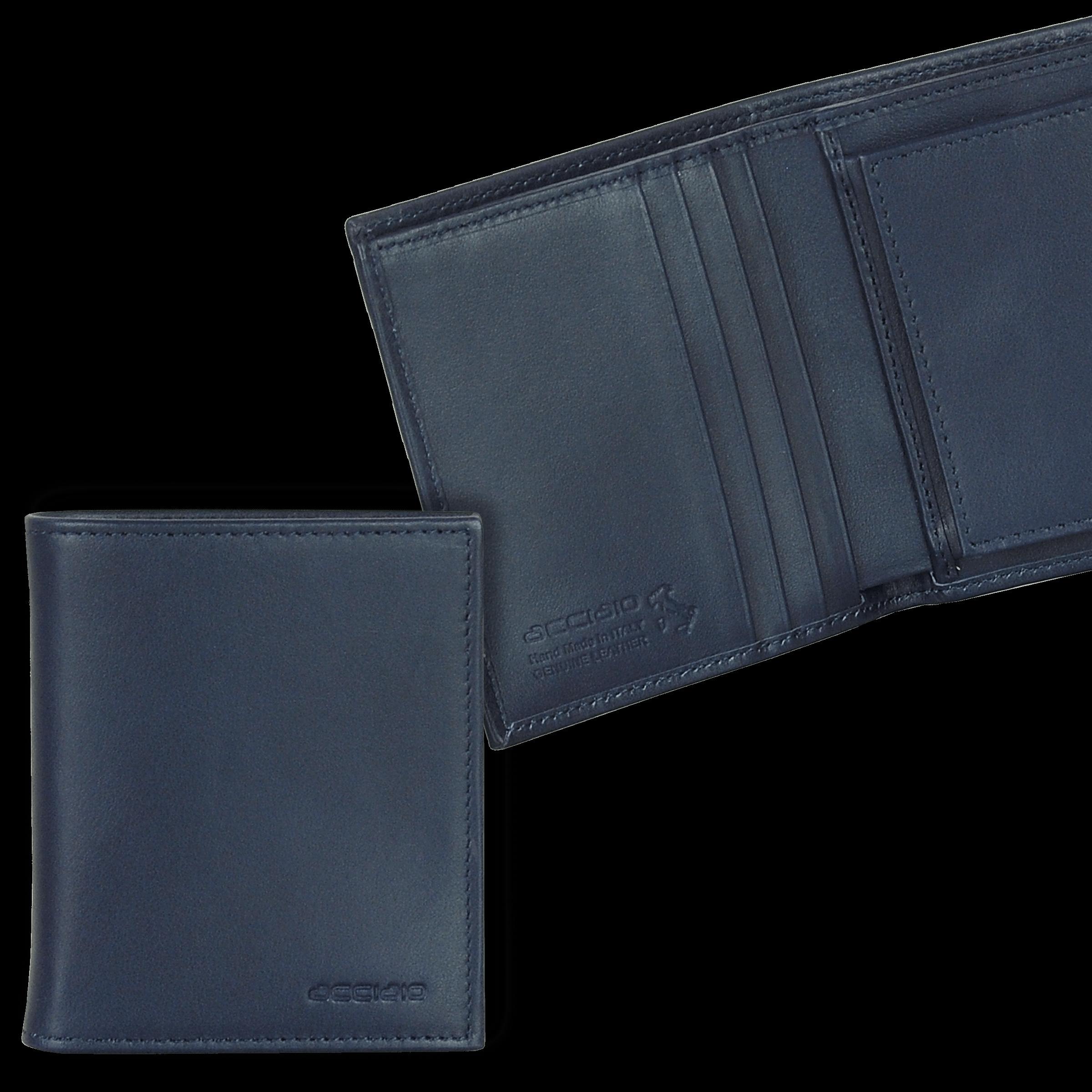 codice promozionale 99caa b3677 Portafoglio uomo Piccolo con Portamonete in pelle liscia | Acciaio®