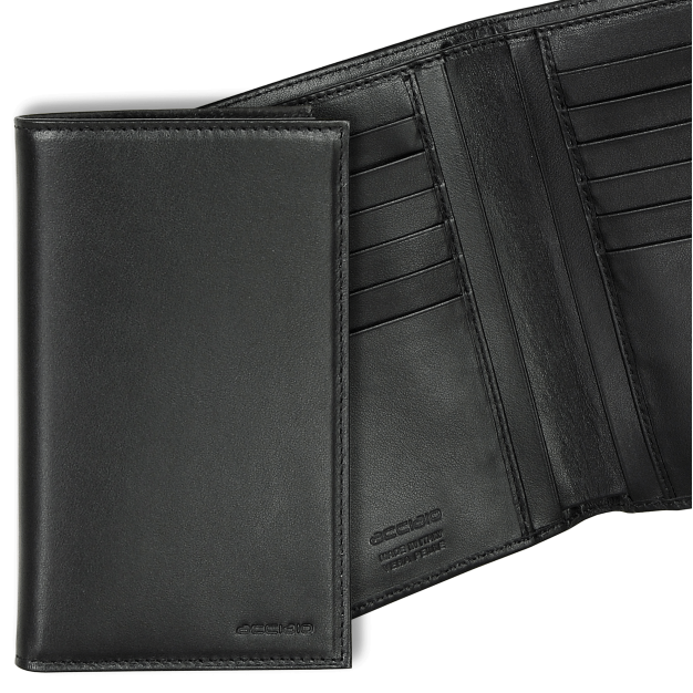 Wallet Vertical for Men in Smooth leather, 12 credit cards