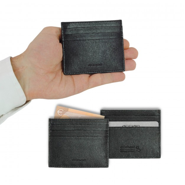 Credit card holder in Saffiano